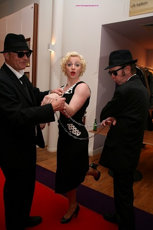 Marilyn Monroe and The Blues Brothers www.funenpartymatch.nl